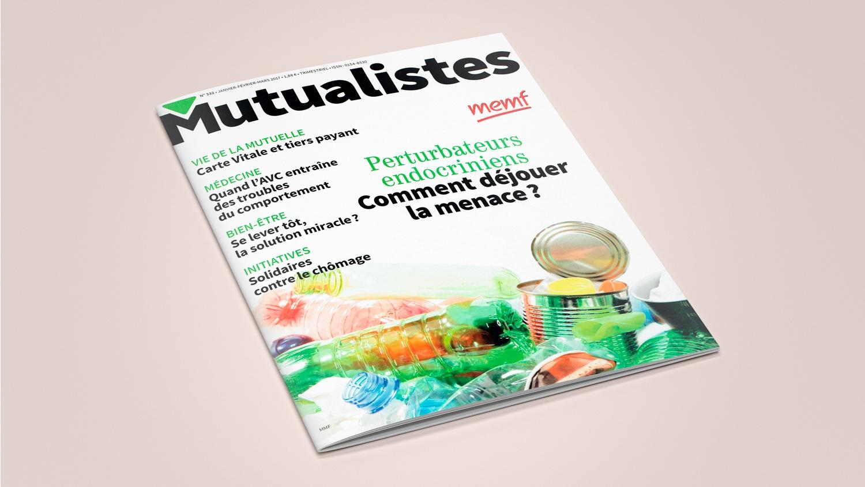 N° 332 du magazine de santé MUTUALISTES. Couverture.