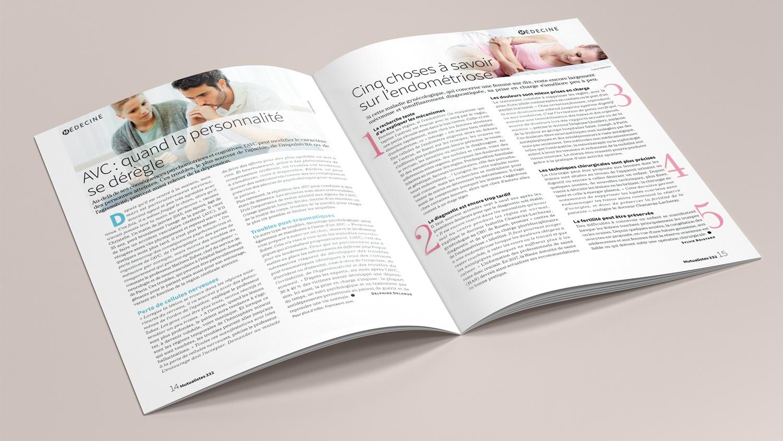 N° 332 du magazine de santé MUTUALISTES. Pages 14-15.