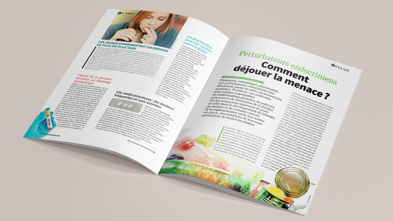 N° 332 du magazine de santé MUTUALISTES. Pages 16-17.