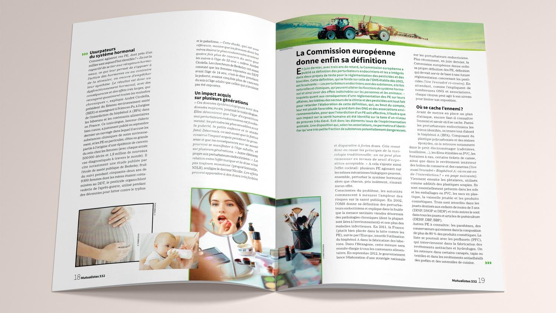 N° 332 du magazine de santé MUTUALISTES. Pages 18-19.