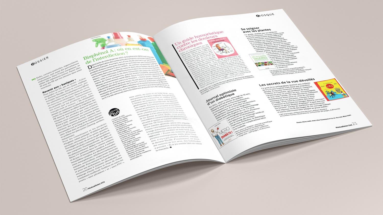N° 332 du magazine de santé MUTUALISTES. Pages 20-21.