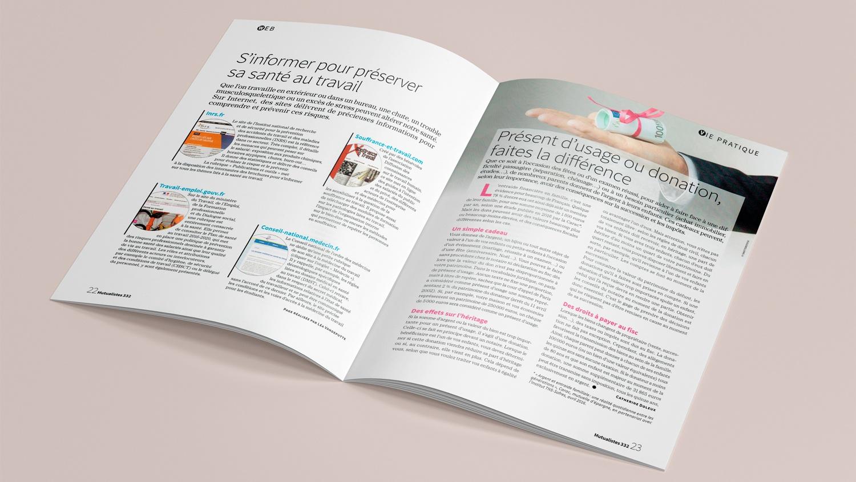 N° 332 du magazine de santé MUTUALISTES. Pages 22-23.