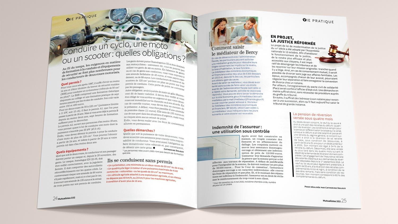 N° 332 du magazine de santé MUTUALISTES. Pages 24-25.