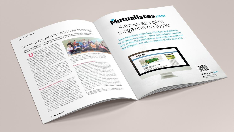 N° 332 du magazine de santé MUTUALISTES. Pages 26-27.