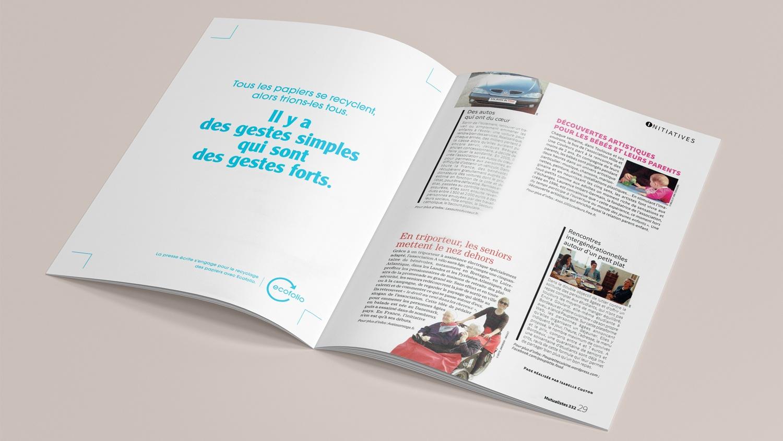 N° 332 du magazine de santé MUTUALISTES. Pages 28-29.