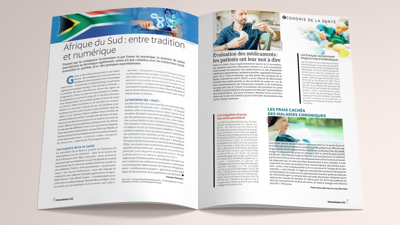 N° 332 du magazine de santé MUTUALISTES. Pages 6-7.
