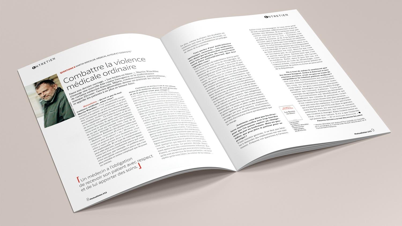N° 332 du magazine de santé MUTUALISTES. Pages 8-9.