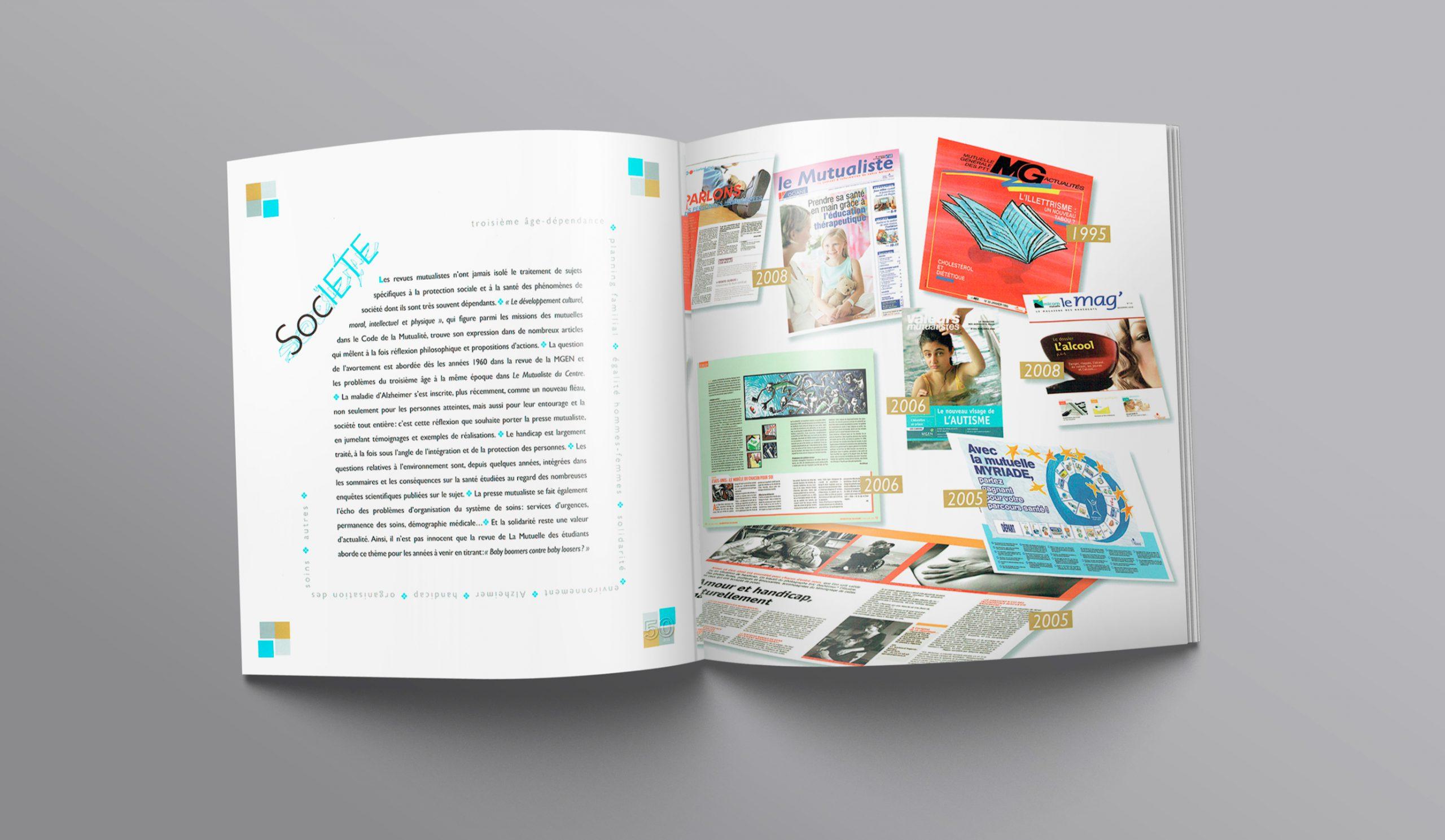 """Chapitre """"Société""""... Texte + illustration des divers magazines sur 50 ans."""