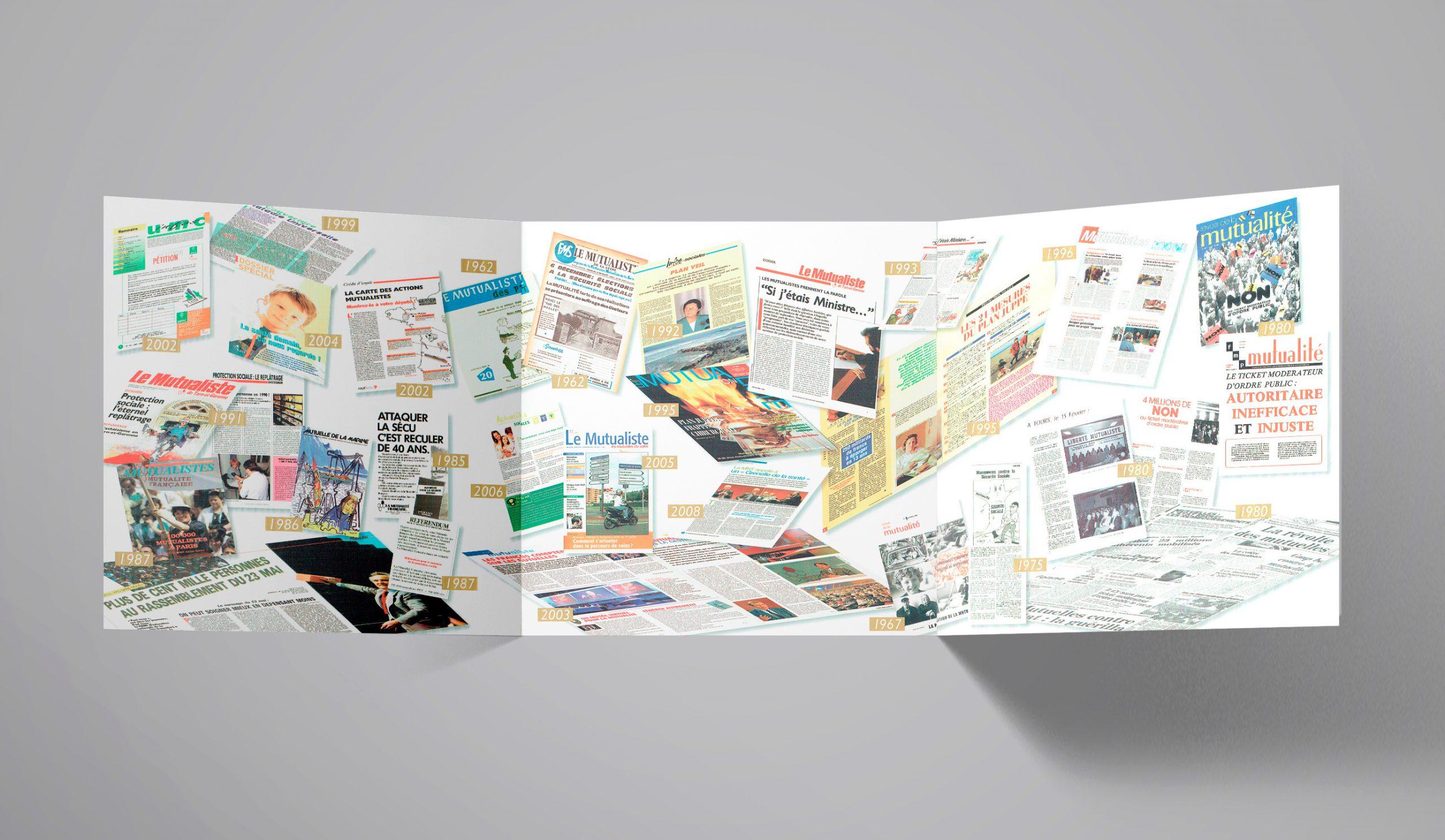 """Chapitre """"Protection Sociale""""... illustration des divers magazines sur 50 ans."""