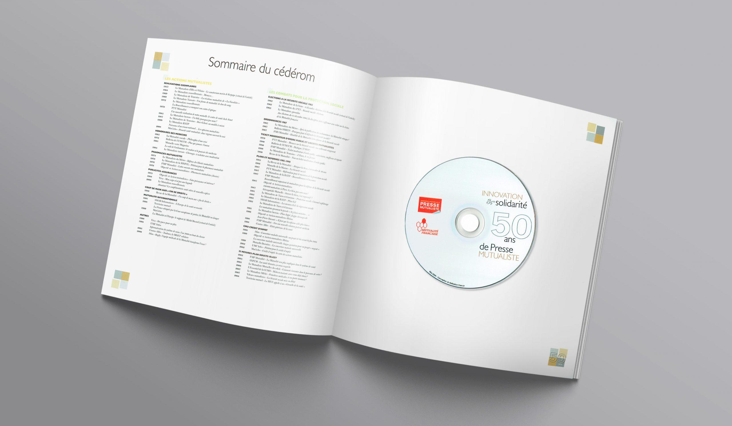 """Suite du """"Sommaire"""" de la brochure pour les 50 ans + le CD offert."""