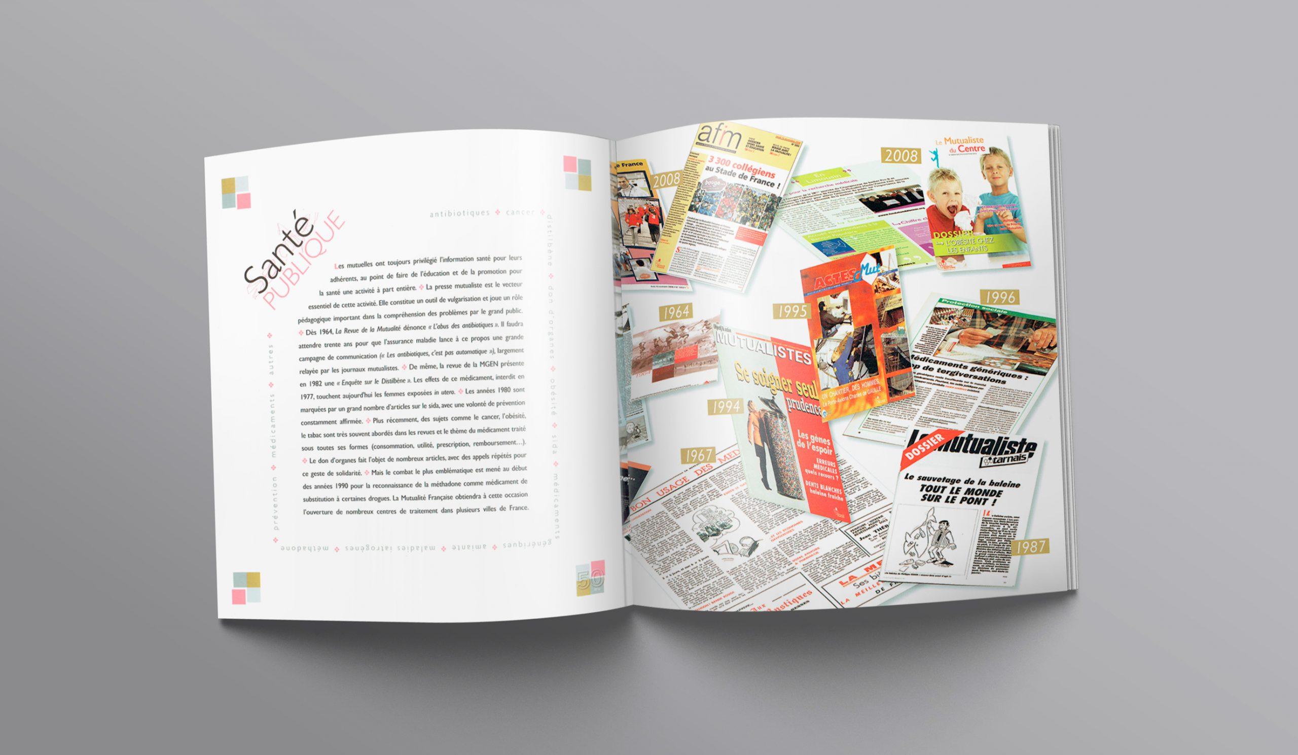 """Chapitre """"Santé publique""""... Texte + illustrations des divers magazines sur 50 ans."""