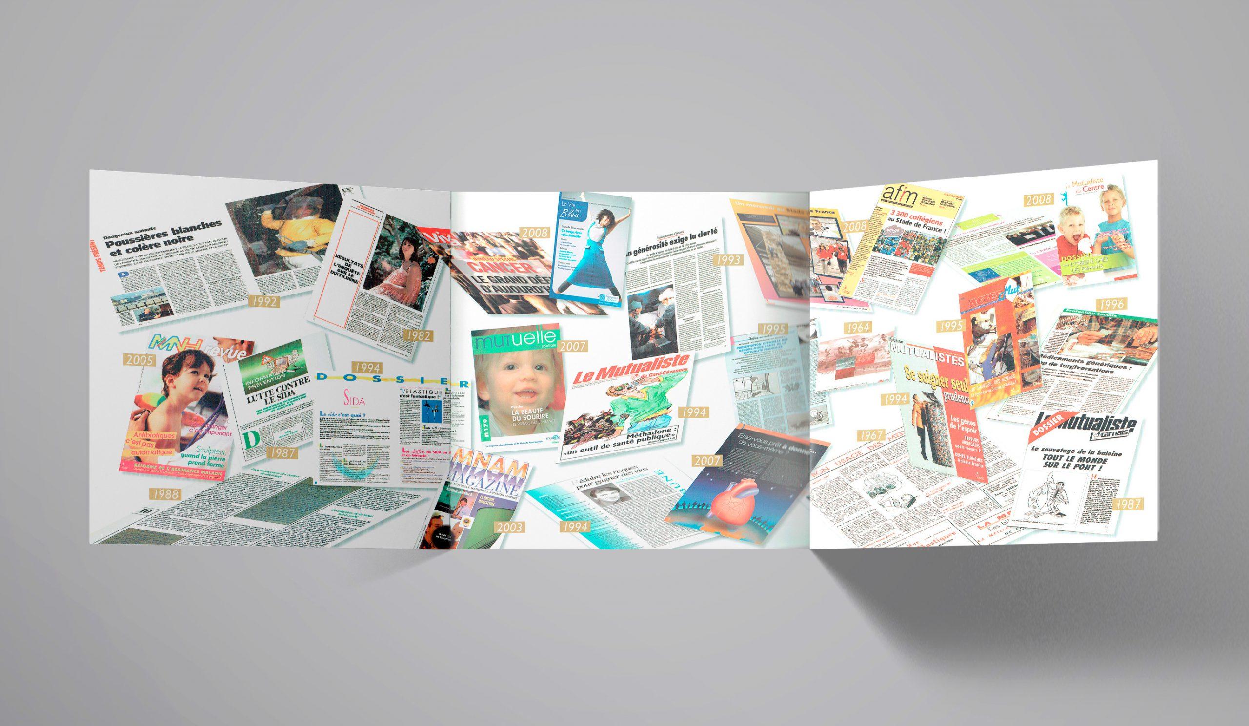 """Chapitre """"Santé publique""""... illustration des divers magazines sur 50 ans."""