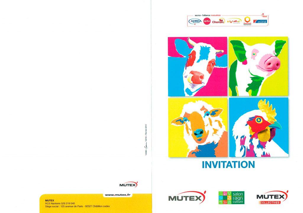 RECTO du Carton d'invitation pour le Salon de l'agriculture.