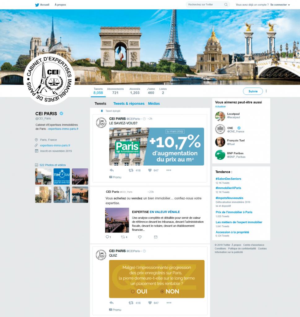 Compte Twitter de CEI PARIS