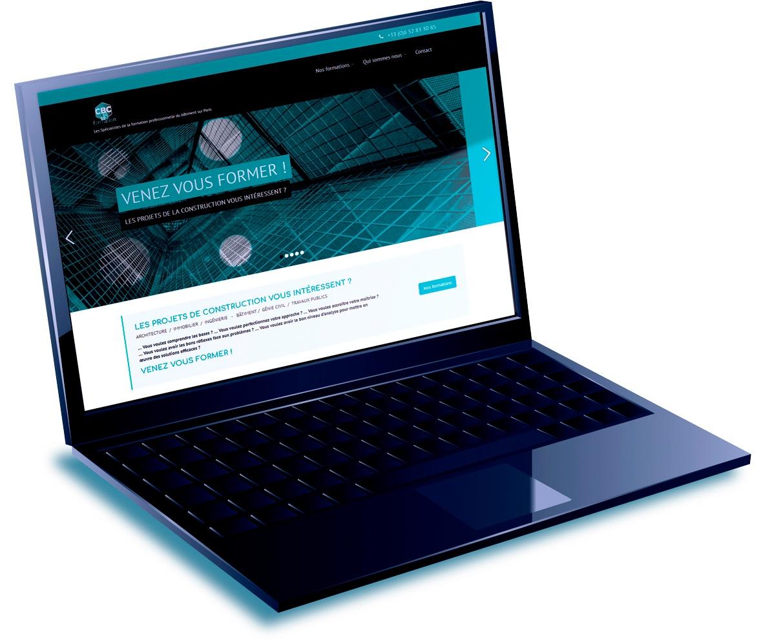 Home page du site de CBC Formation