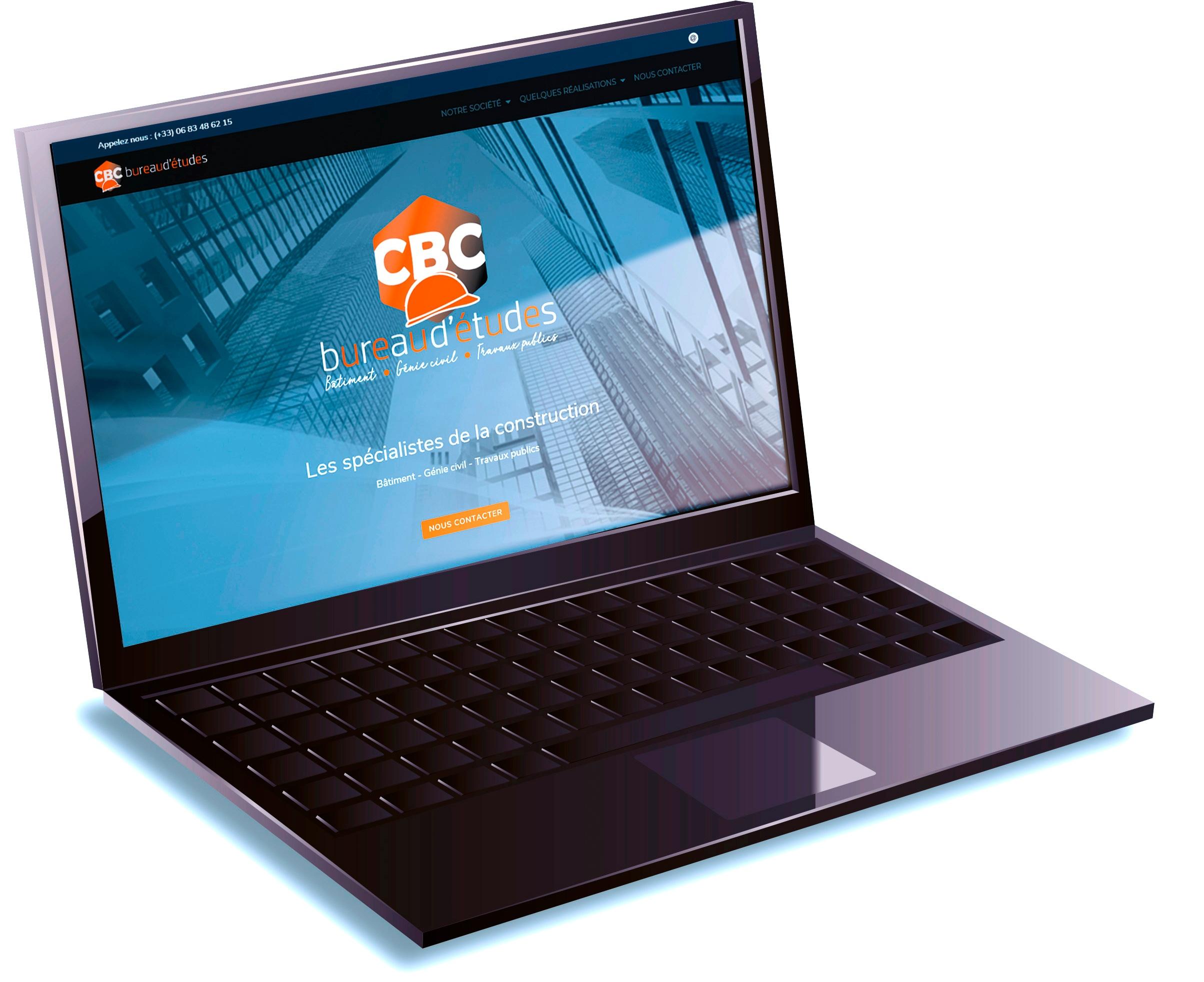Home page du site de CBC Bureau d'Études