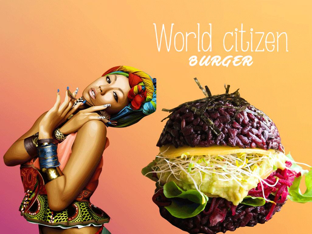 La WORLD CITIZEN et son Burger