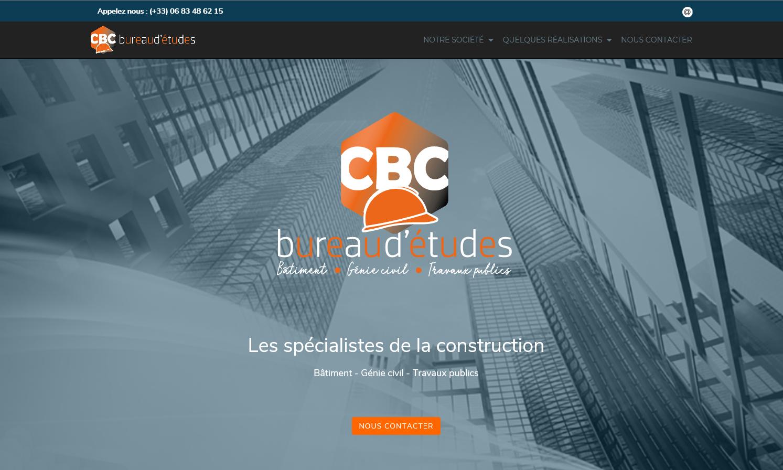 Page d'accueil de CBC Bureau d'études