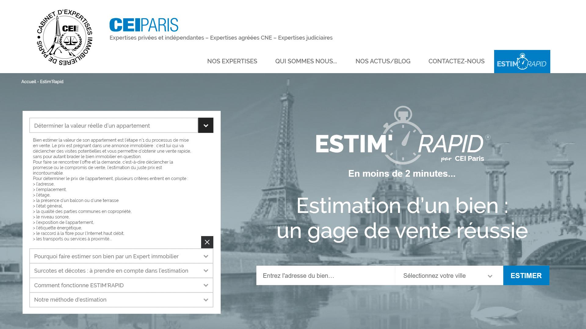 Page ESTIM'RAPID
