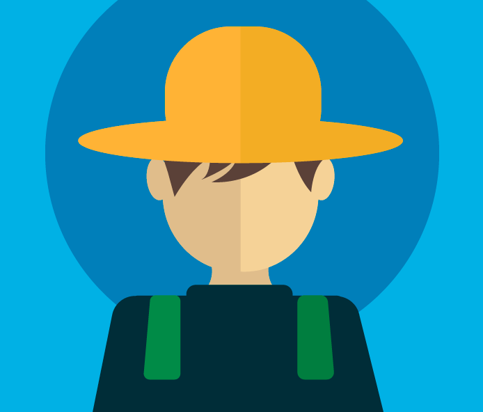 Illustration tête d'Alex, le fermier