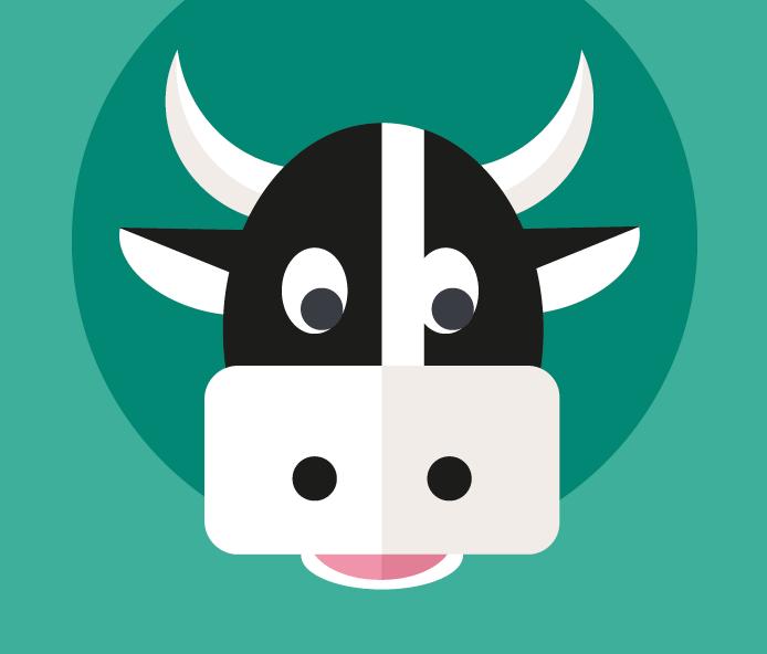 Illustration tête de vache Caroline