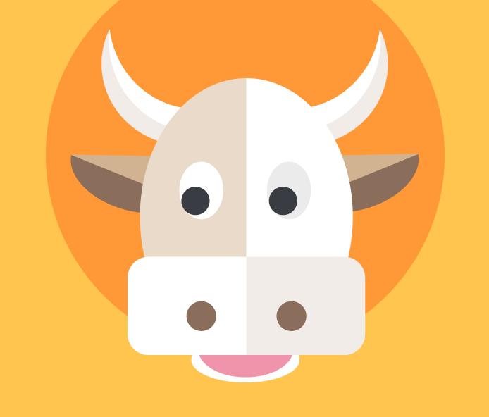 Illustration tête de vache Flavie