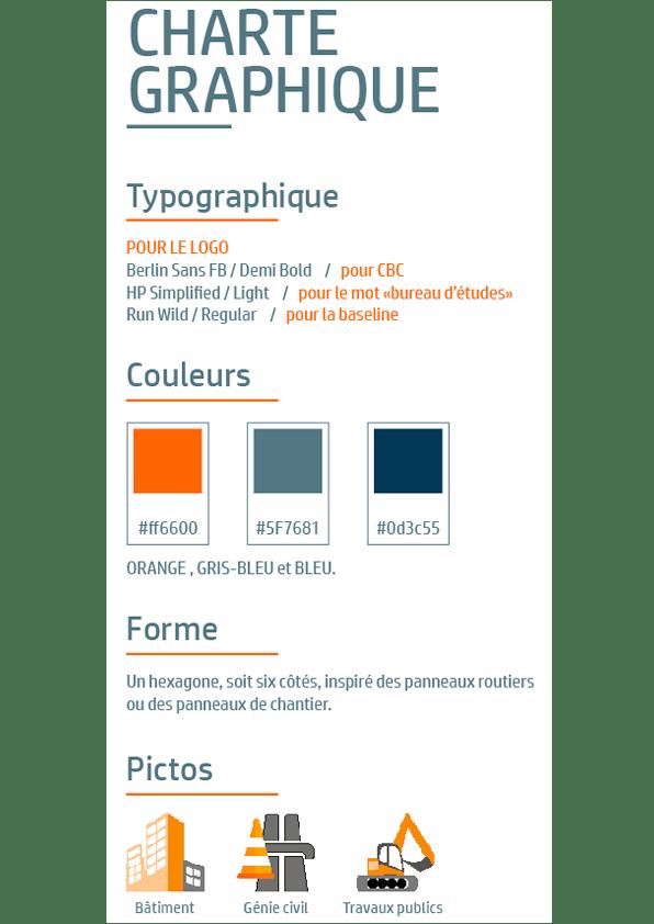 Site CBC Bureau d'Études, la Charte Graphique.