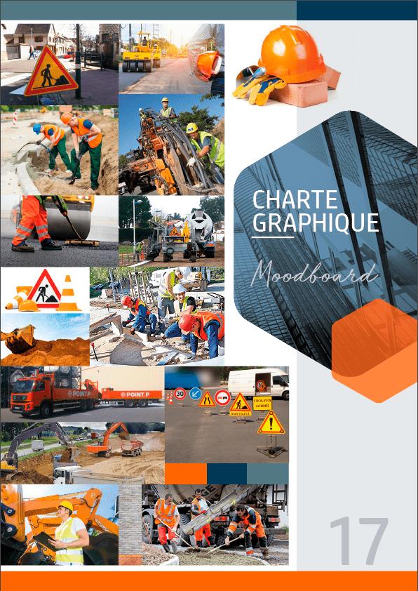 Site CBC Bureau d'Études, le Moodboard, de la Charte Graphique.