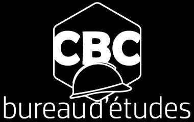 Logo CBC BUREAU D'ÉTUDES en couleur BLANC fond NOIR