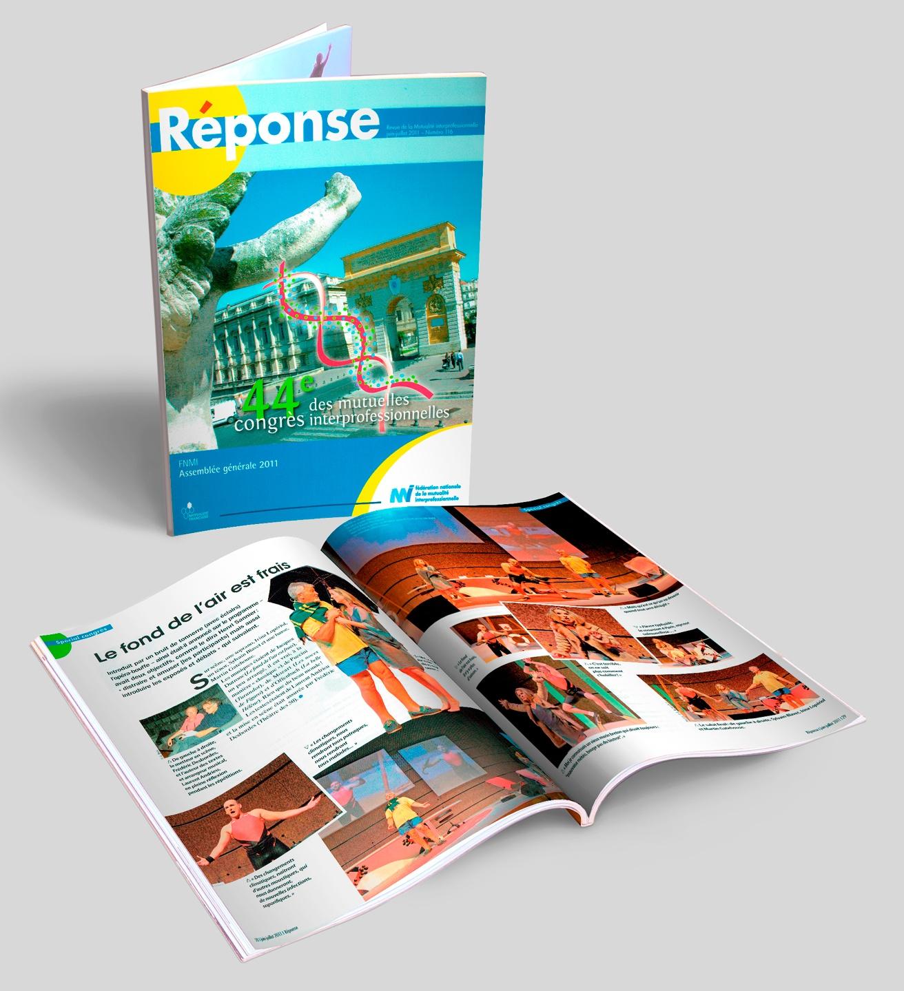 RÉPONSE, magazine de la mutuelle de la FNMI, N° 116 + doubles pages.