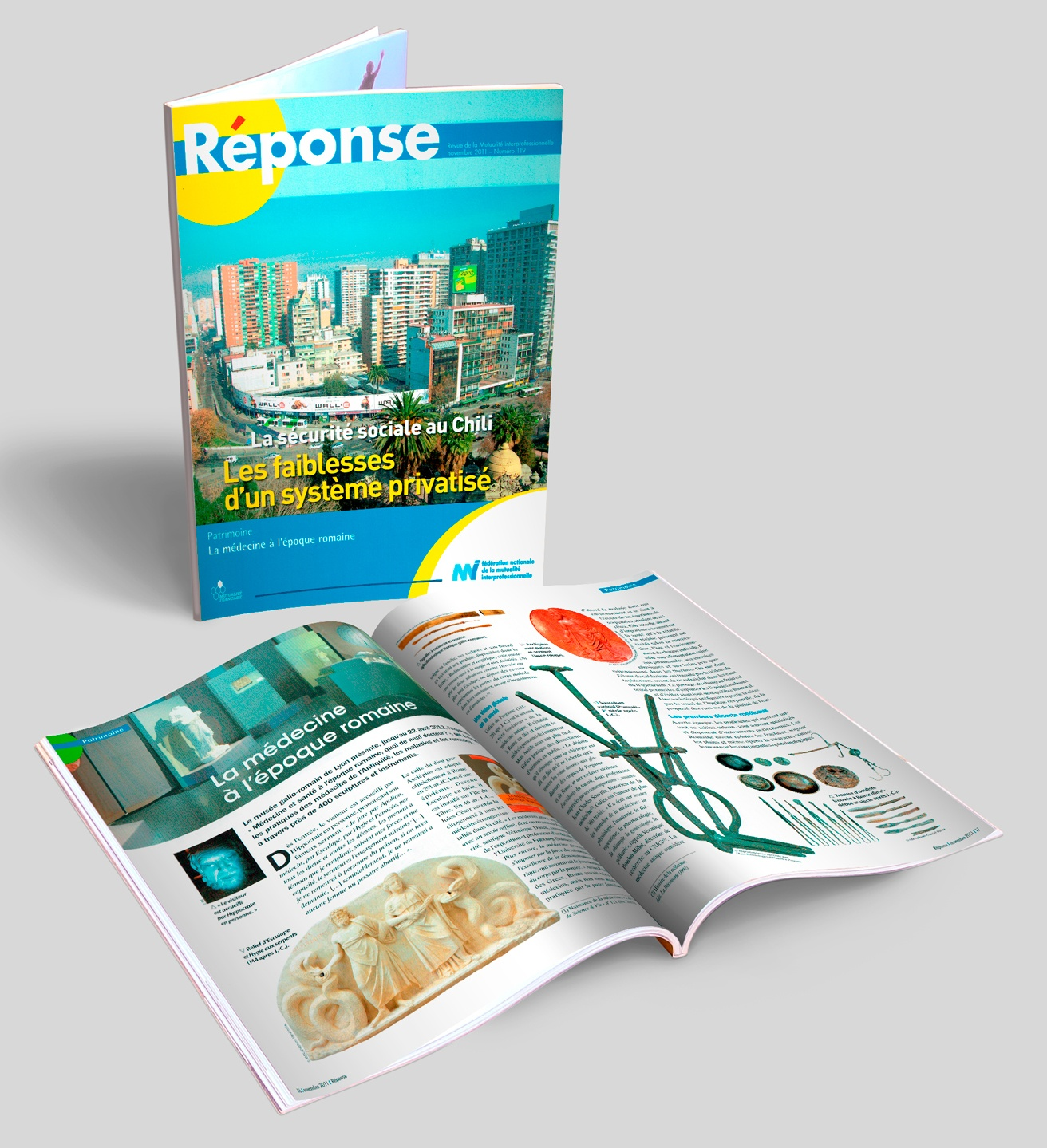 RÉPONSE, magazine de la mutuelle de la FNMI, N° 119 + doubles pages.