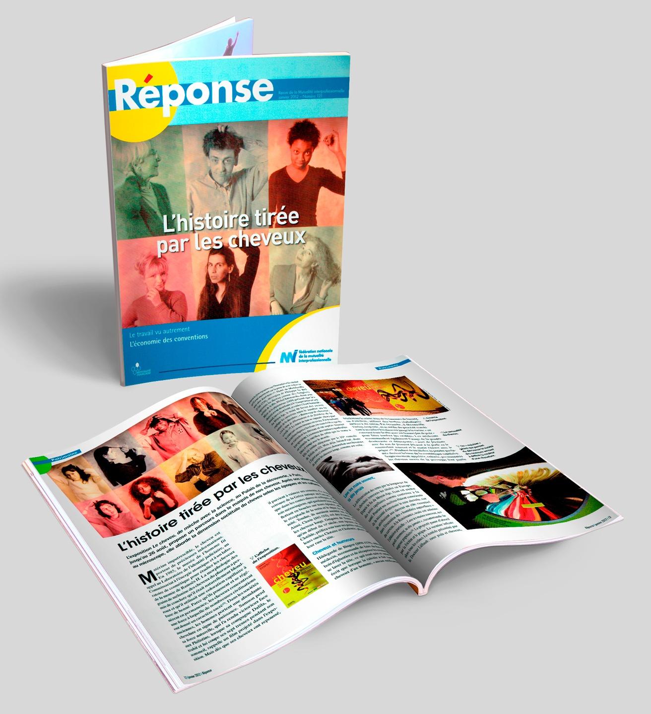 RÉPONSE, magazine de la mutuelle de la FNMI, N° 121 + doubles pages.