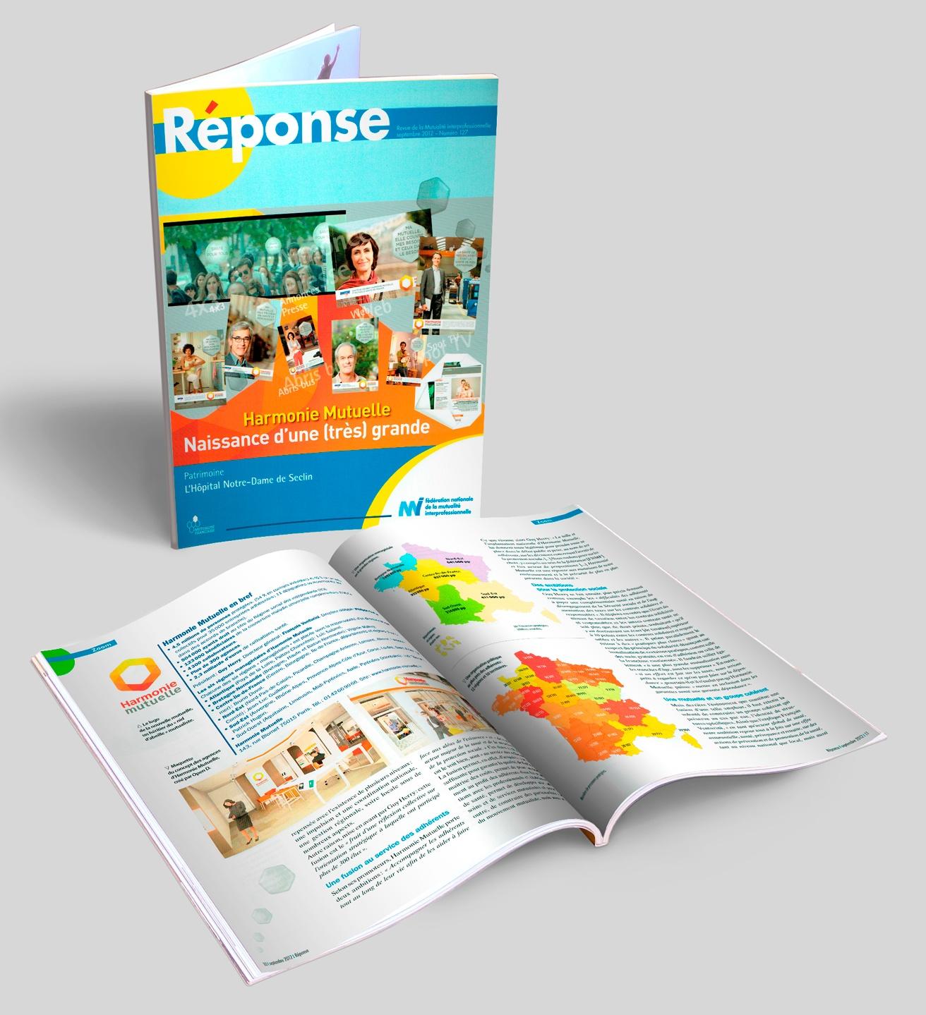 RÉPONSE, magazine de la mutuelle de la FNMI, N° 127 + doubles pages.