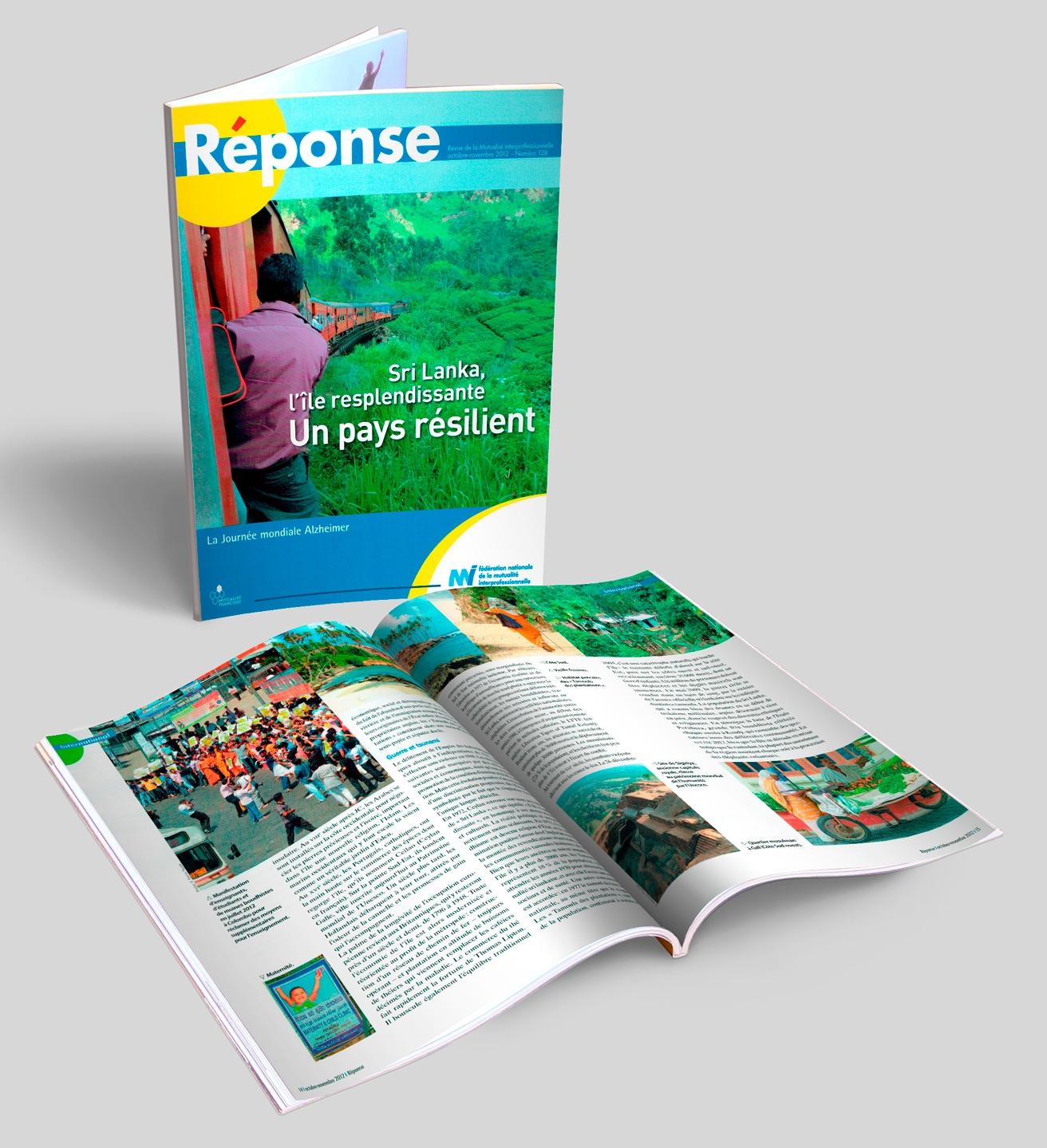 RÉPONSE, magazine de la mutuelle de la FNMI, N° 128 + doubles pages.