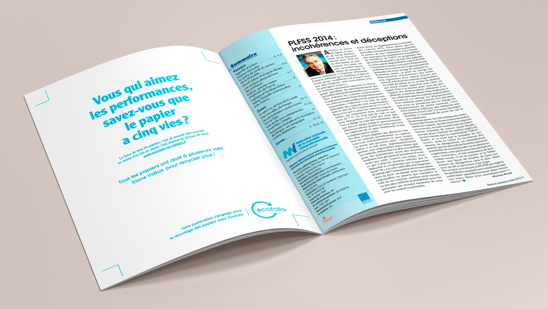REPONSE pages PUB + Editorial