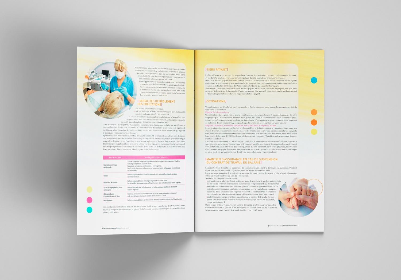 Brochure d'AG2R la Mondiale. Notice d'information. Page 12-13