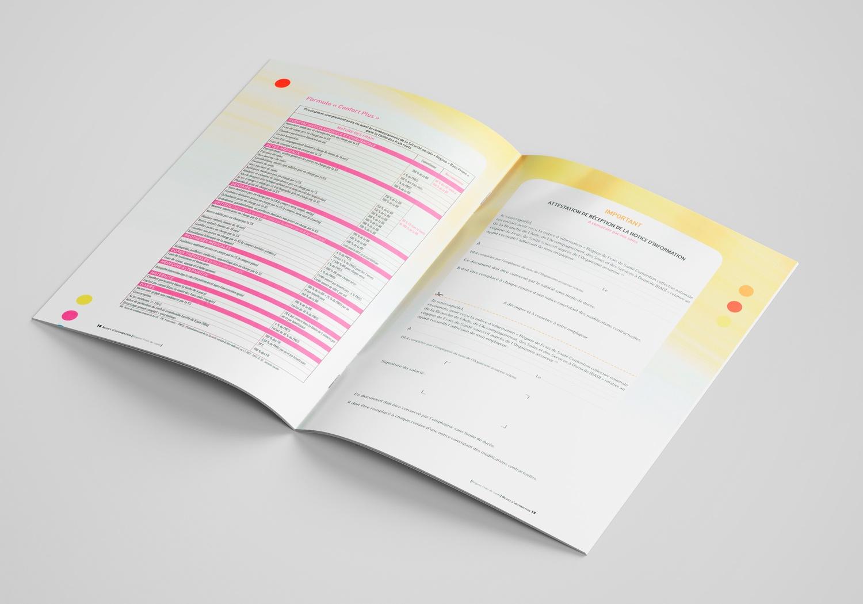 Brochure d'AG2R la Mondiale. Notice d'information. Page 18-19