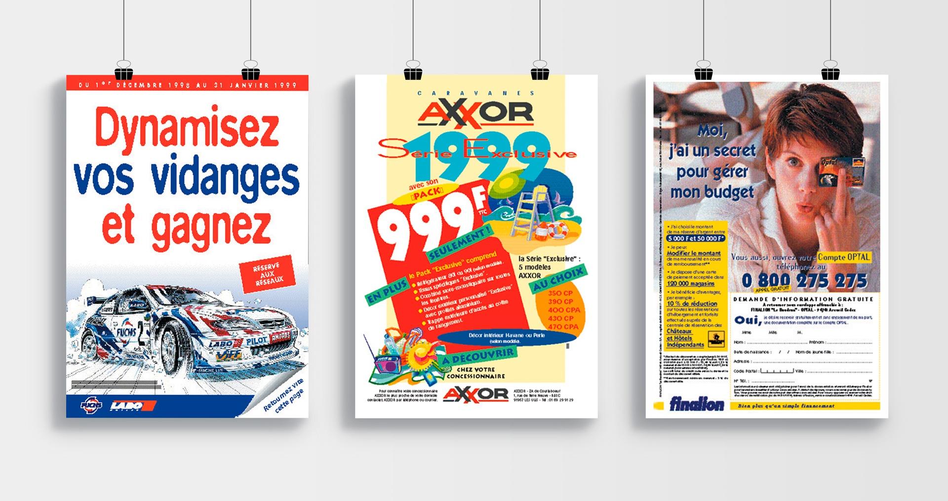 Annonces Presse pour LABO, AXXOR, FINALION