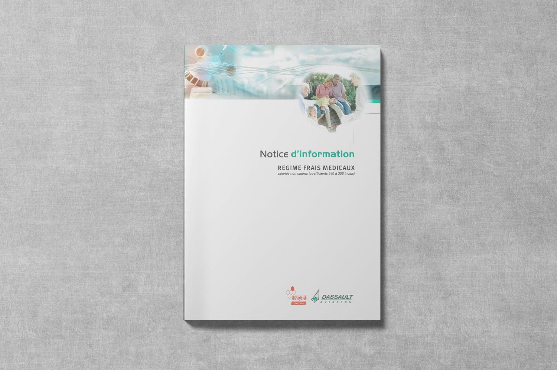 Brochure de DASSAULT. Notice d'information. Régime frais de Santé. Couverture