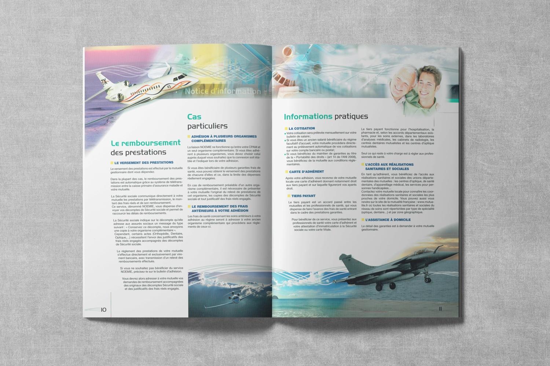 Brochure de DASSAULT. Notice d'information. Régime frais de Santé. Pages 10-11.