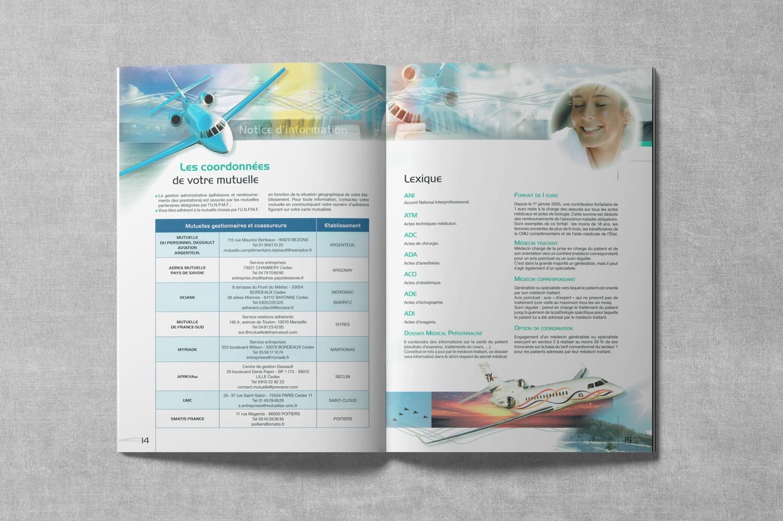 Brochure de DASSAULT. Notice d'information. Régime frais de Santé. Pages 14-15.
