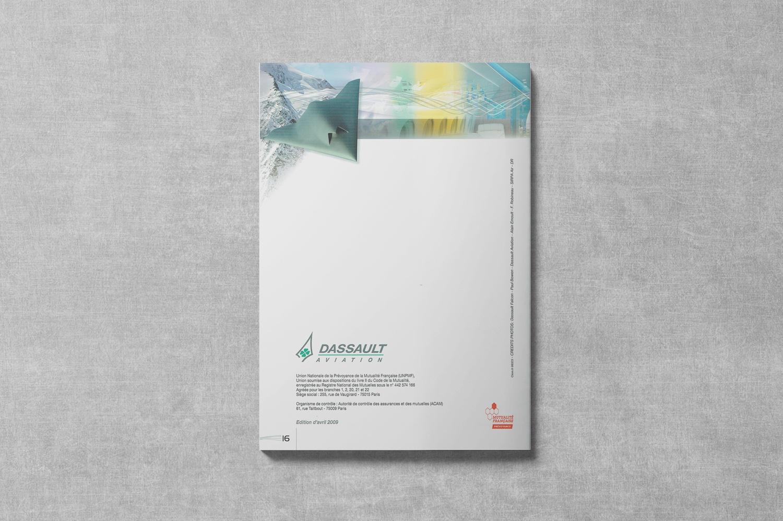 Brochure de DASSAULT. Notice d'information. Régime frais de Santé. Dos de couverture.