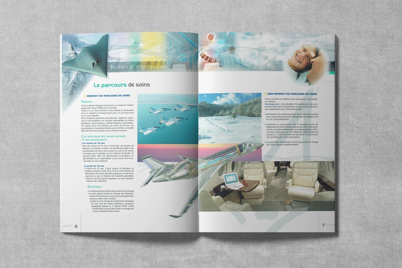 Brochure de DASSAULT. Notice d'information. Régime frais de Santé. Pages 6-7.