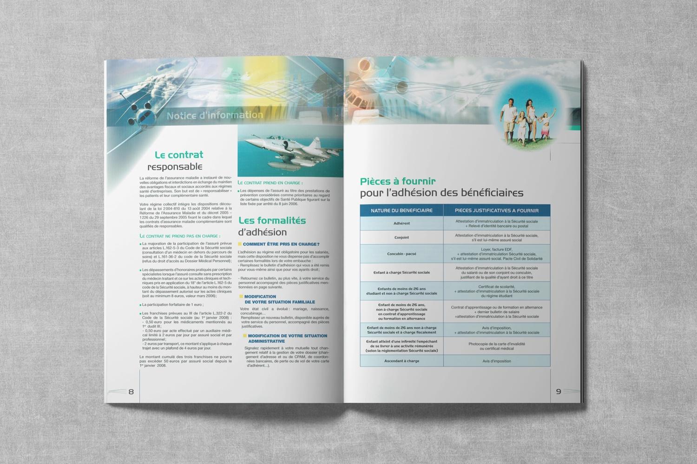 Brochure de DASSAULT. Notice d'information. Régime frais de Santé. Pages 8-9.