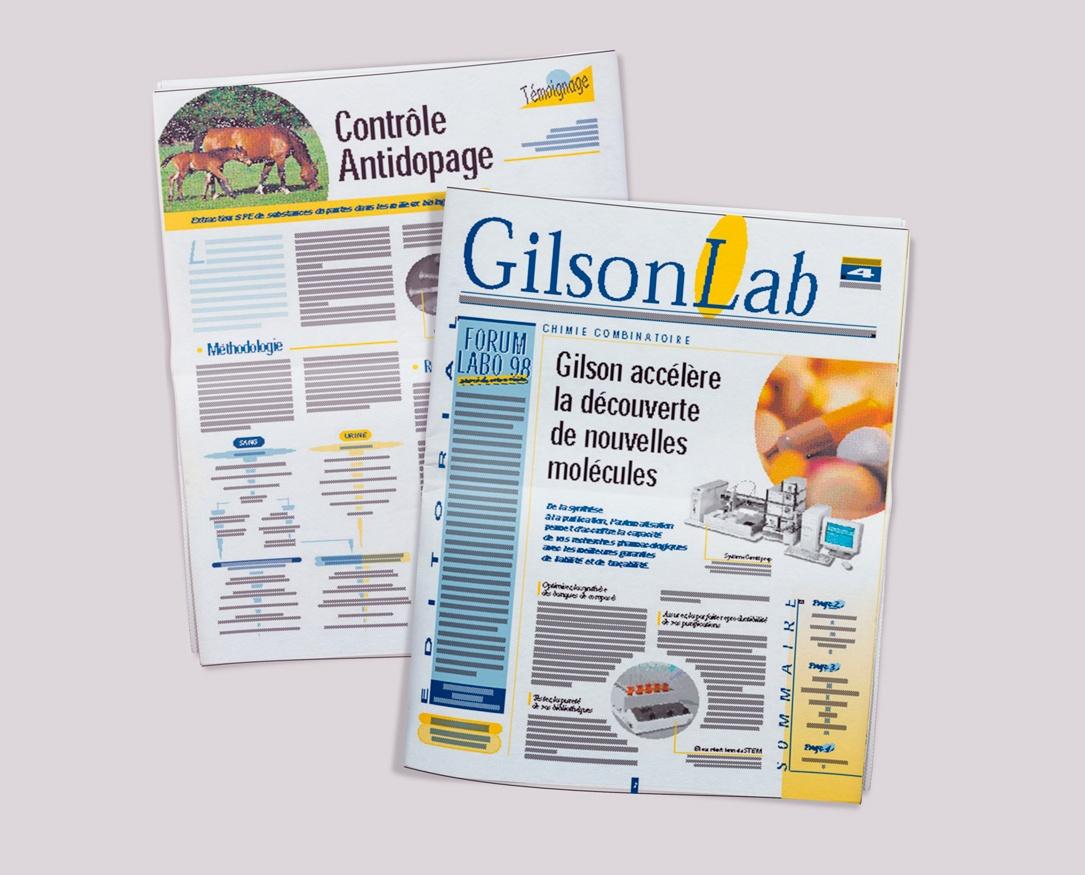 GILSON Lab, le journal d'entreprise de GILSON. Pages 1-4