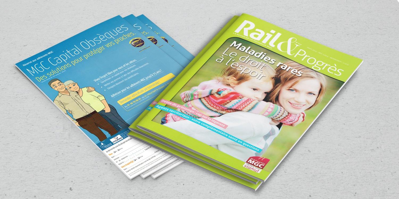 Rail & Progrès couverture et dos du magazine.