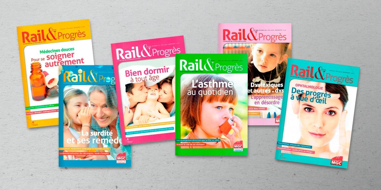 Plusieurs numéros du magazine RAIL & PROGRÈS
